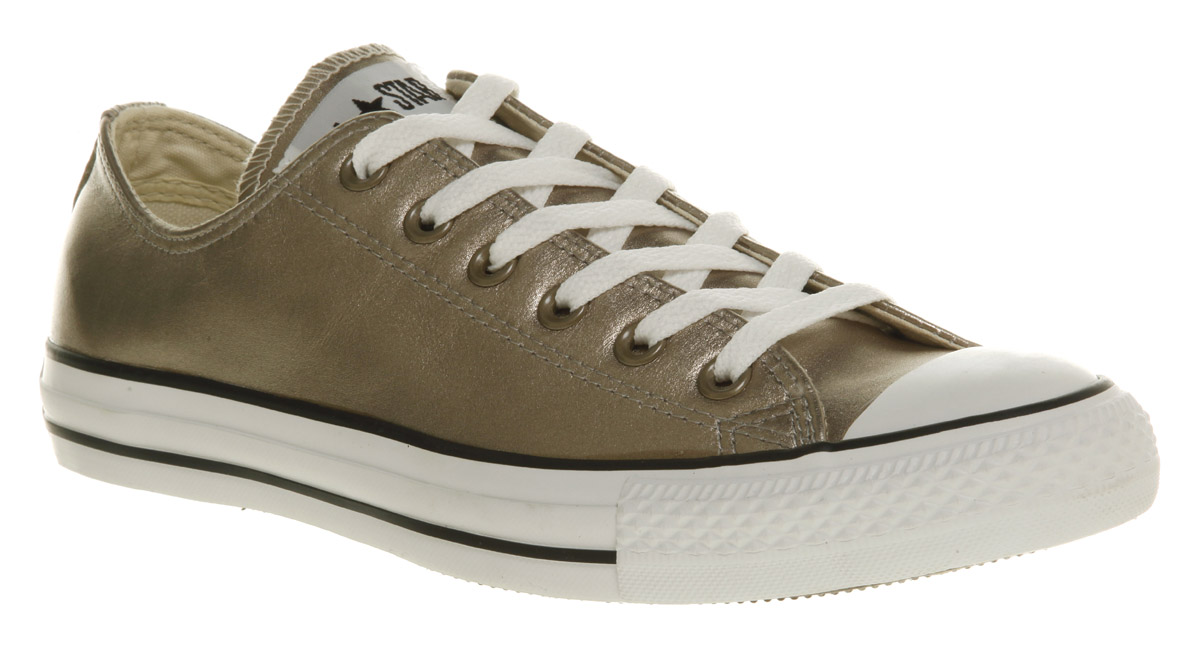 Converse-All-Star-Leather-Ox-Low-Gold-Metallic-Trainers-Shoes