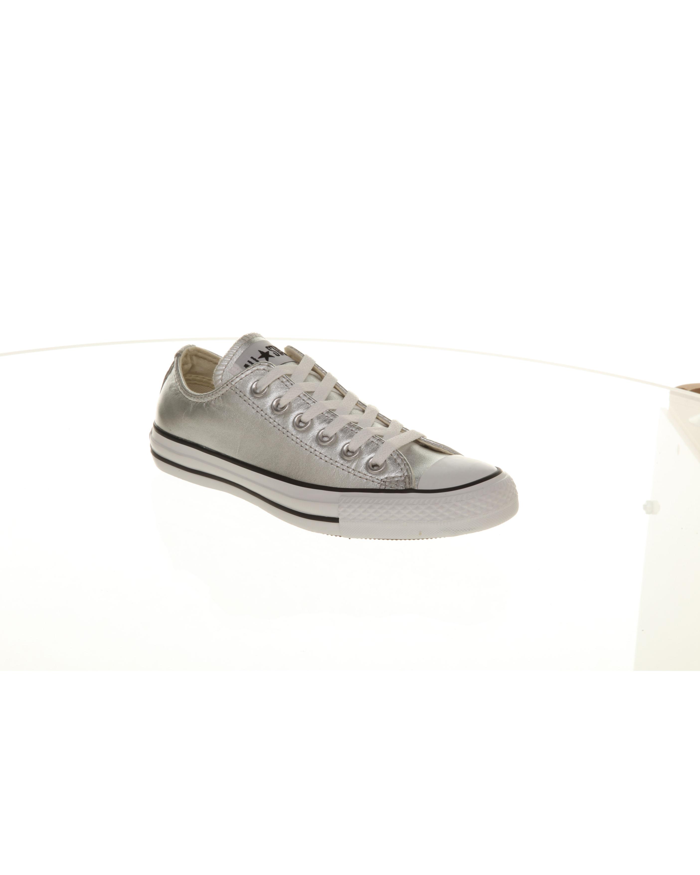 7da79997c7e3 Image is loading Converse-All-Star-Leather-Ox-Low-Silver-Metallic-