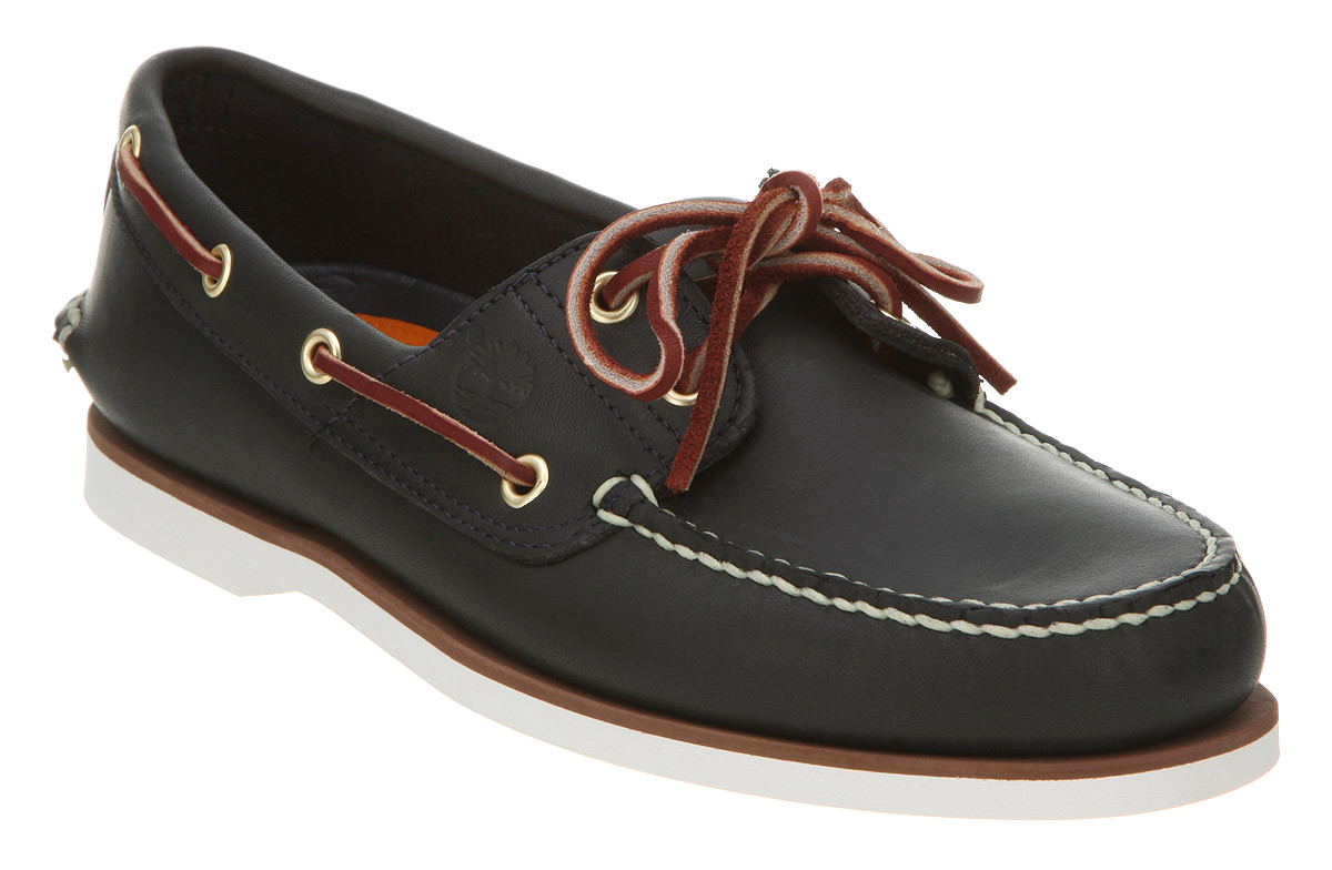 mens timberland new boat shoe navy blue leather shoes ebay