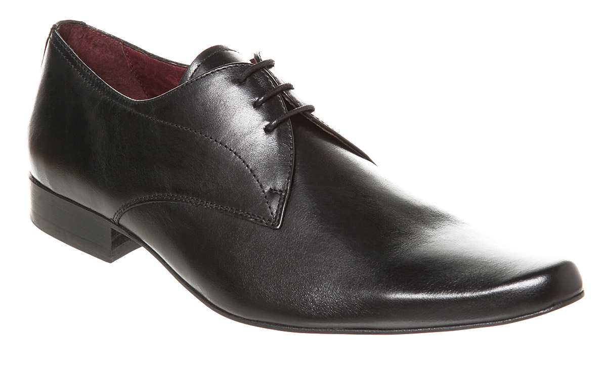mens poste no point lace two black leather formal shoes ebay