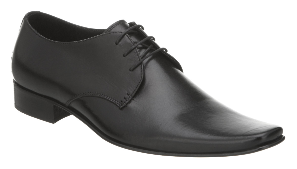 Mens-Office-Exit-Chisel-Gibson-Black-Leather-Shoes
