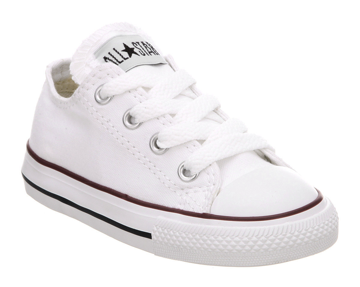 Kids Converse All Star Low Infant Shoes WHITE Kids | eBay