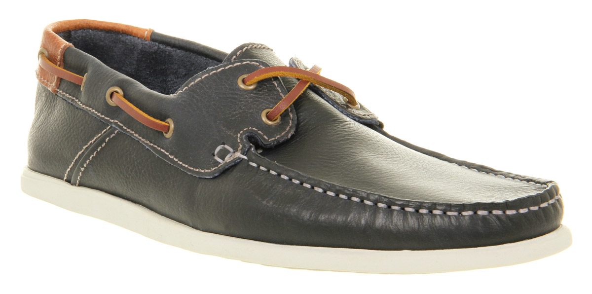 Mens Ask The Missus Sinbad Boat Shoe Navy/tan Lthr Casual ...