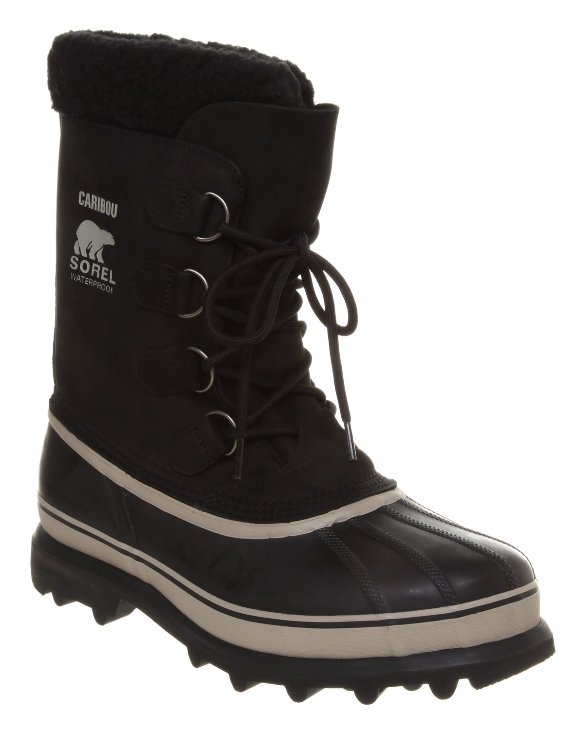 Mens-Sorel-Caribou-Nubuck-High-Lace-Black-Nubuck-Boots