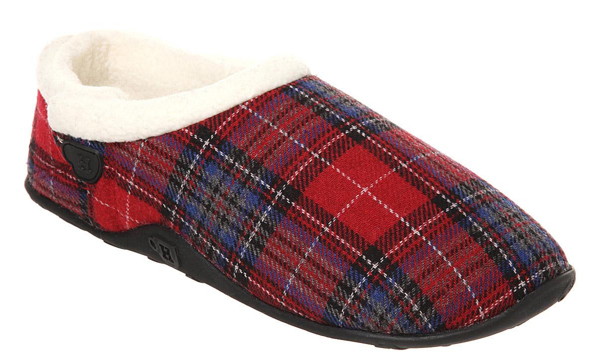 Mens Homeys Homeys Slipper Red Tartan Flai Casual Shoes