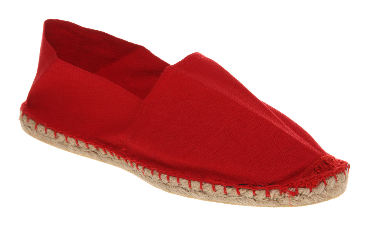 Mens-Office-Solemate-Espadrille-Red-Canvas