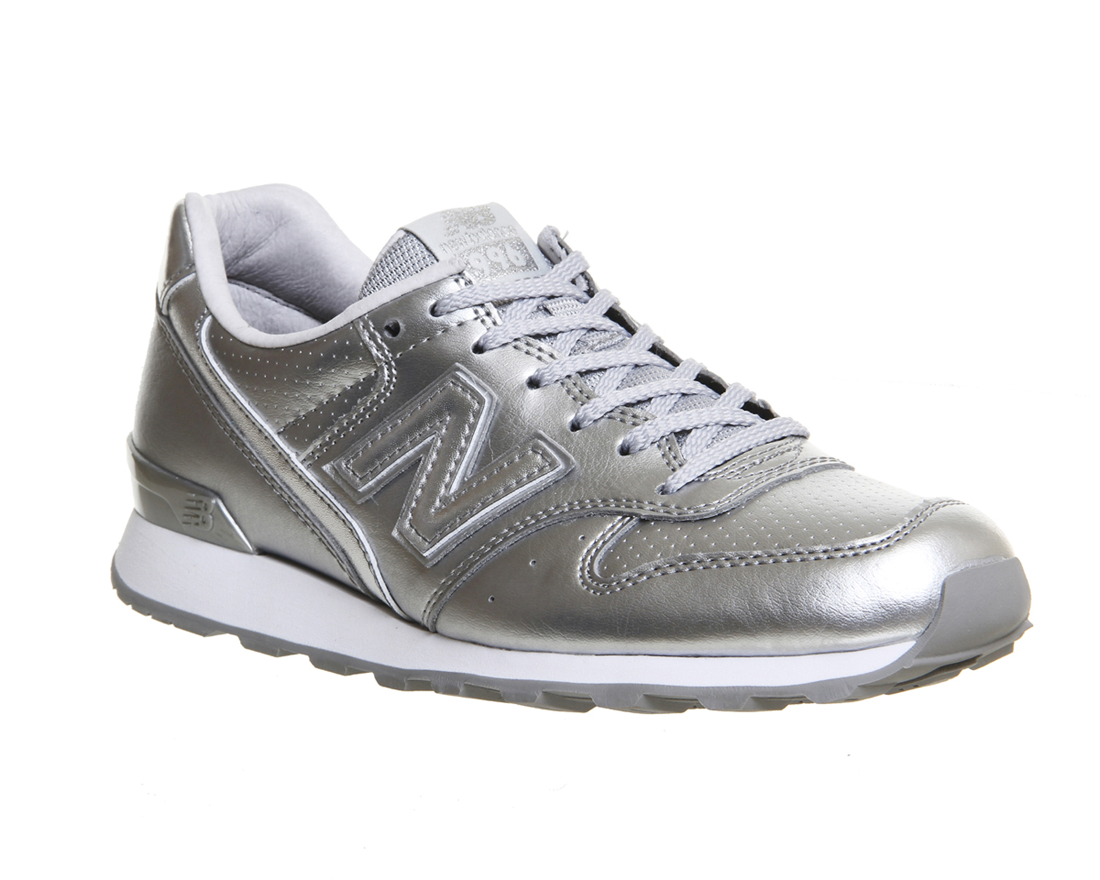 womens new balance 996 silver mono trainers shoes ebay. Black Bedroom Furniture Sets. Home Design Ideas