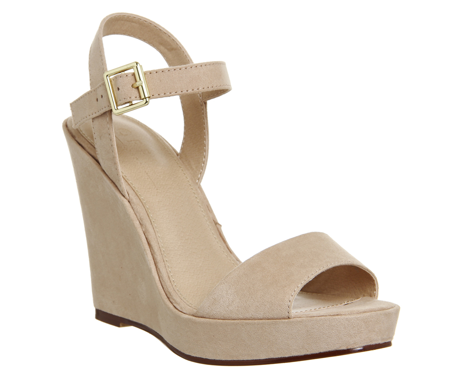 7184042f6dc4 Womens Office Mai Tai Two Part Wedge Sandals NUDE Heels
