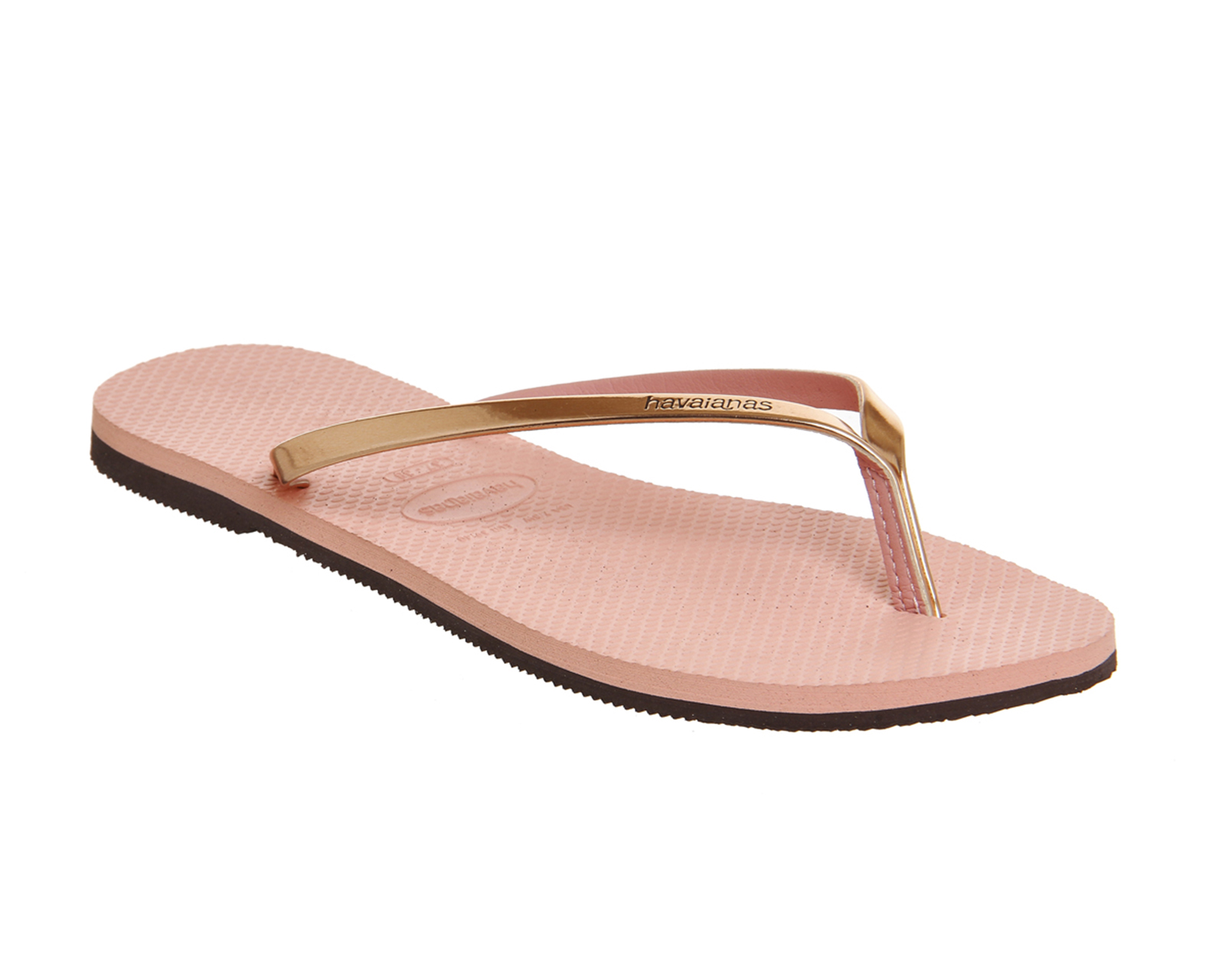 womens havaianas slim you metallic flip flop light pink sandals ebay. Black Bedroom Furniture Sets. Home Design Ideas