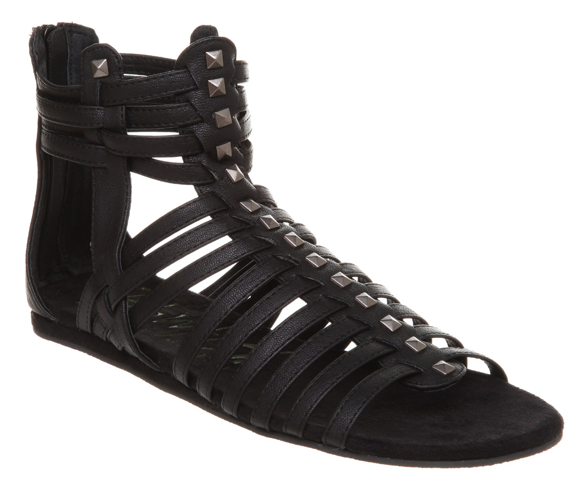 Womens-Blowfish-Ladder-Studded-Gladiator-Black-Butter-Exclusive-Sandals