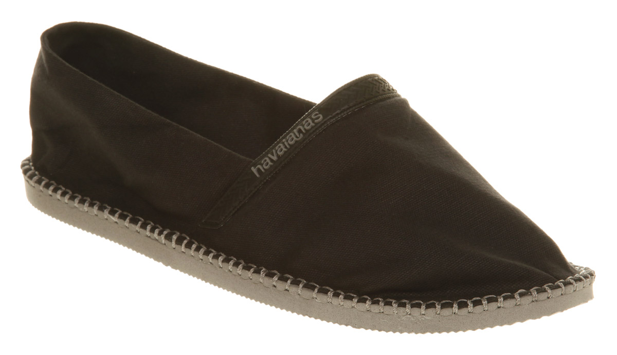 Mens-Havaianas-Havaianas-Espadrille-Ss10-Black-grey-Casual-Shoes