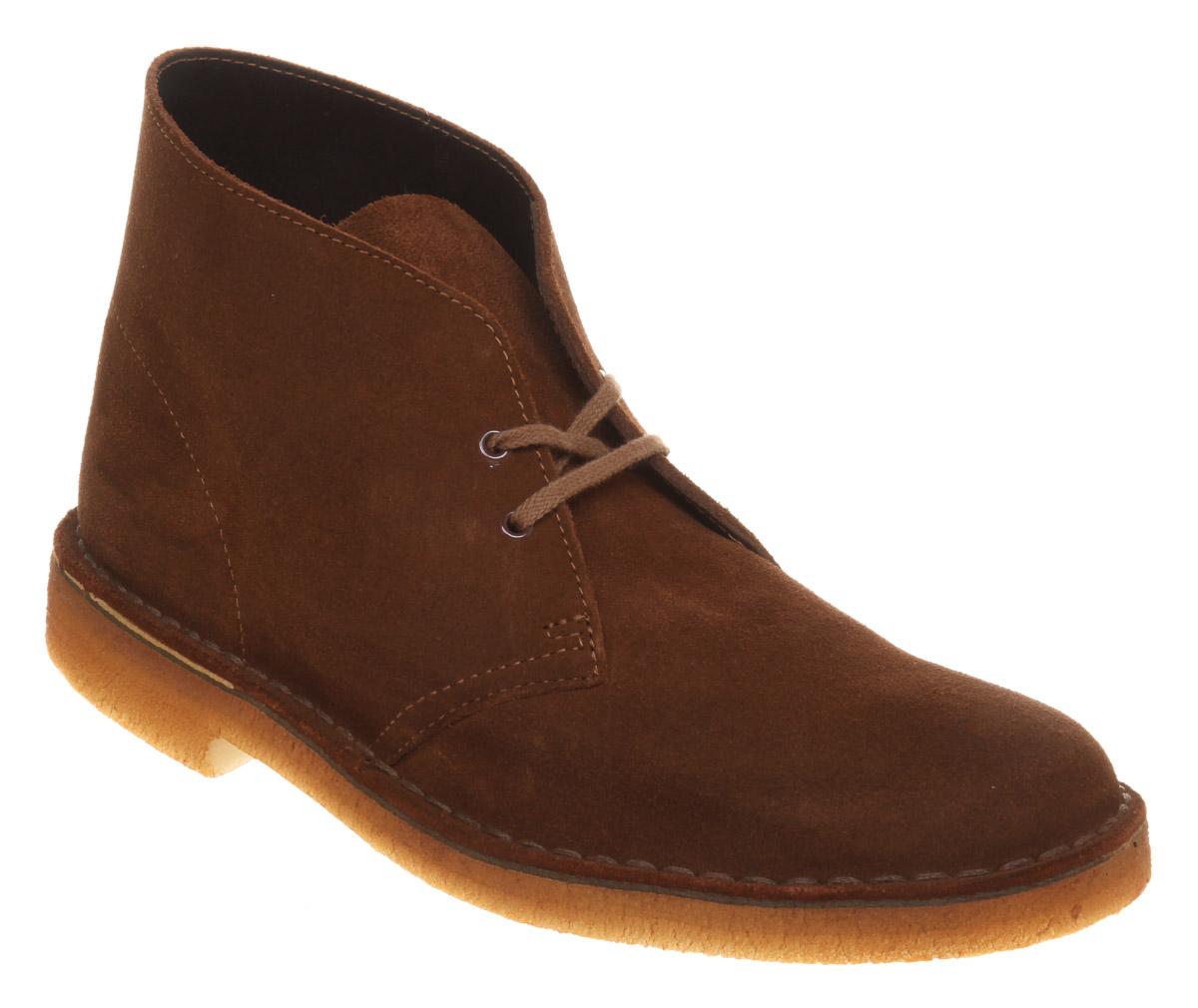 Herren-Clarks-Originals-Desert-Boot-Cola-Wildleder-Stiefel Indexbild 2