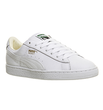 31845ffeee1 Mens Puma Basket Classic WHITE Trainers Shoes
