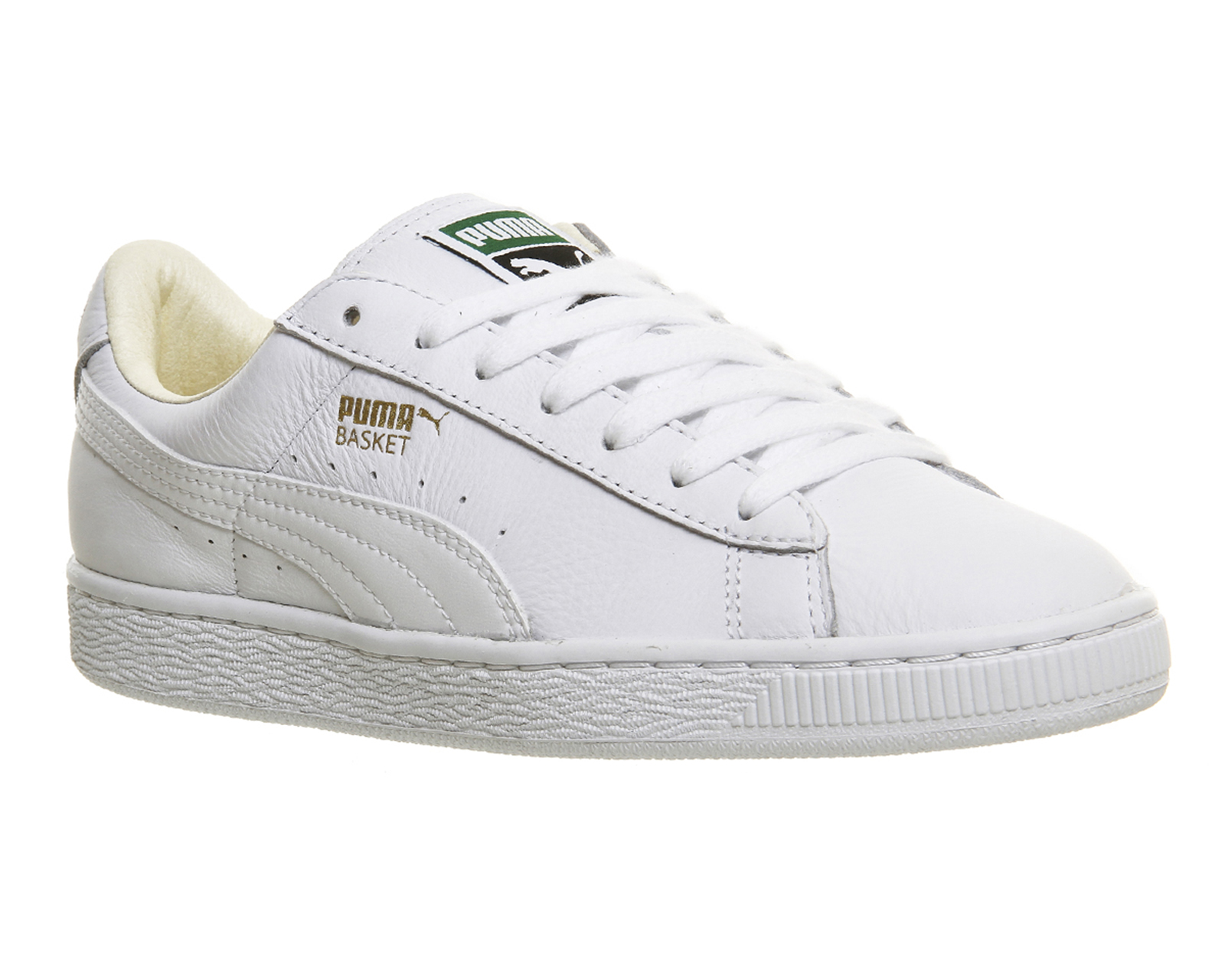 mens puma basket classic white trainers shoes ebay. Black Bedroom Furniture Sets. Home Design Ideas