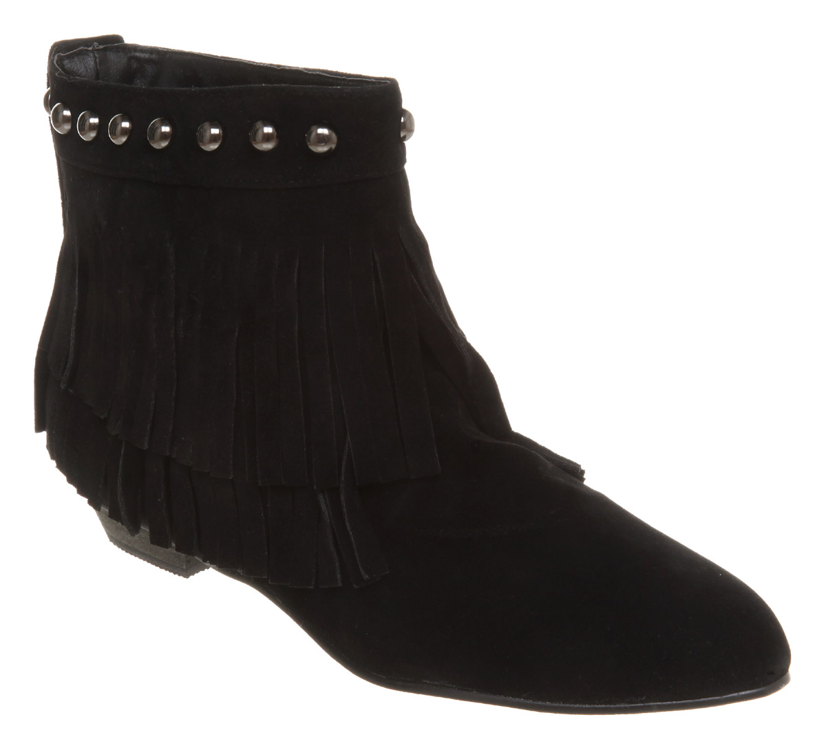 Womens-Office-Girl-Karma-Fringe-Boot-Blk-Microfibre-Boots