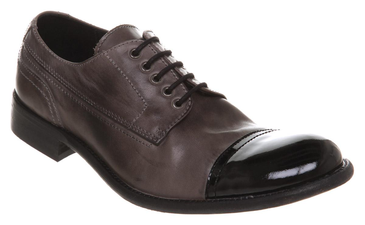 mens poste nine grey leather formal shoes ebay