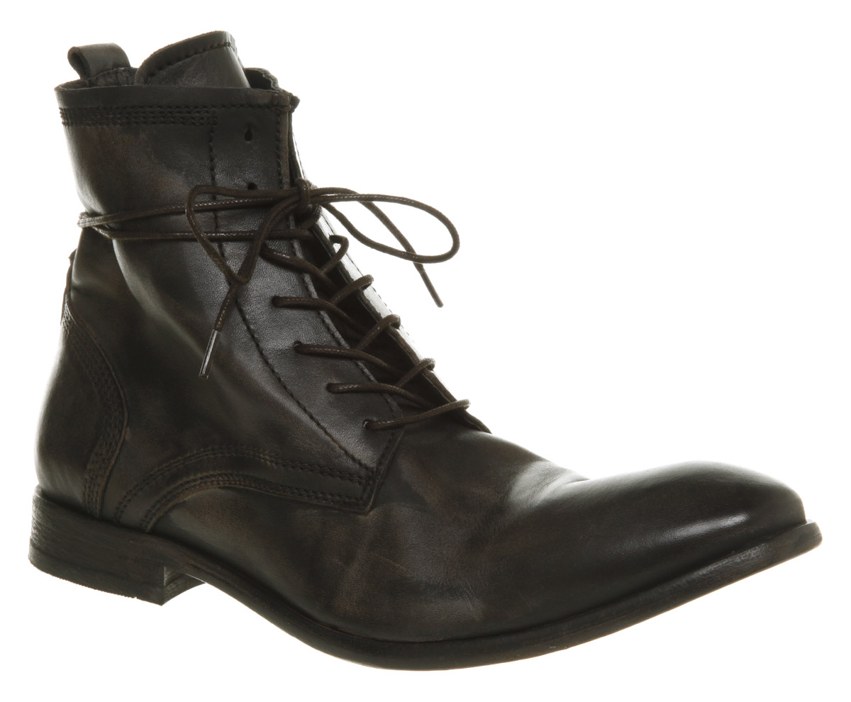 mens h by hudson ss11 swathmore lace boot black leather