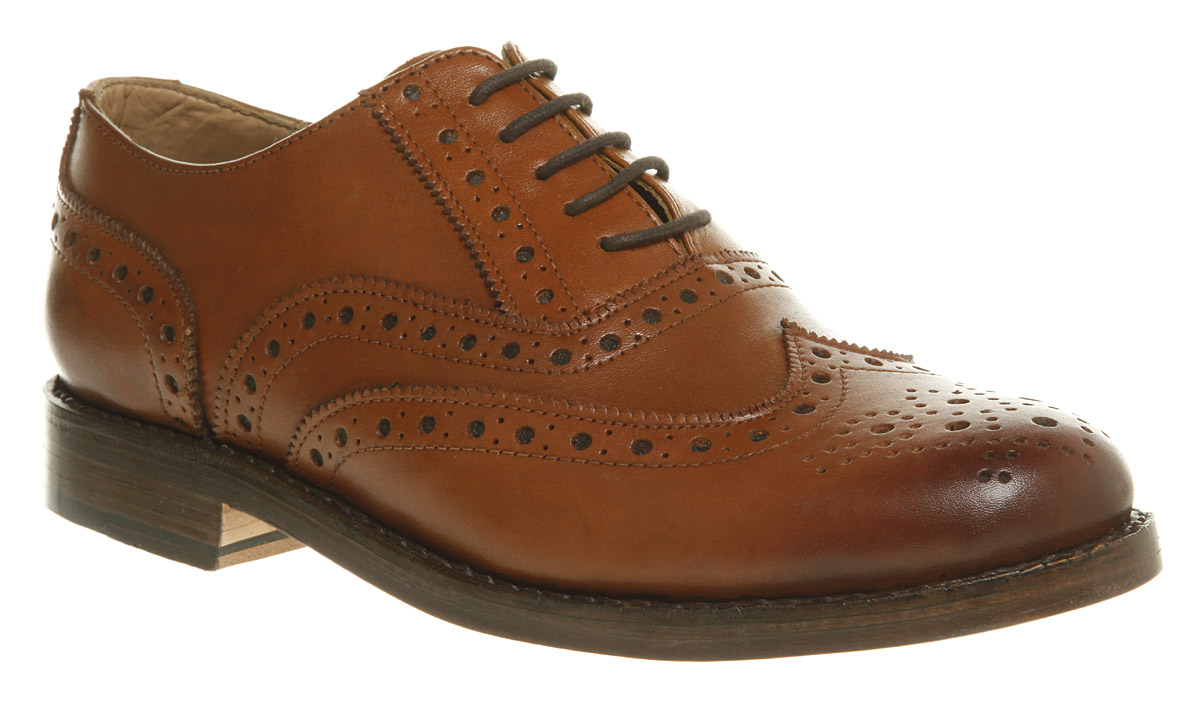 Mens-Ask-The-Missus-Thorn-Brogue-Lace-Tan-Leather-Formal-Shoes