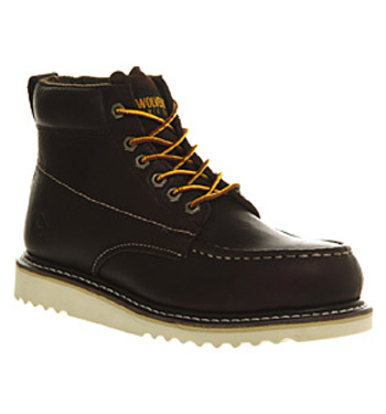 Mens-Wolverine-Apprentice-Wedge-Boot-Choc-Leather-Boots