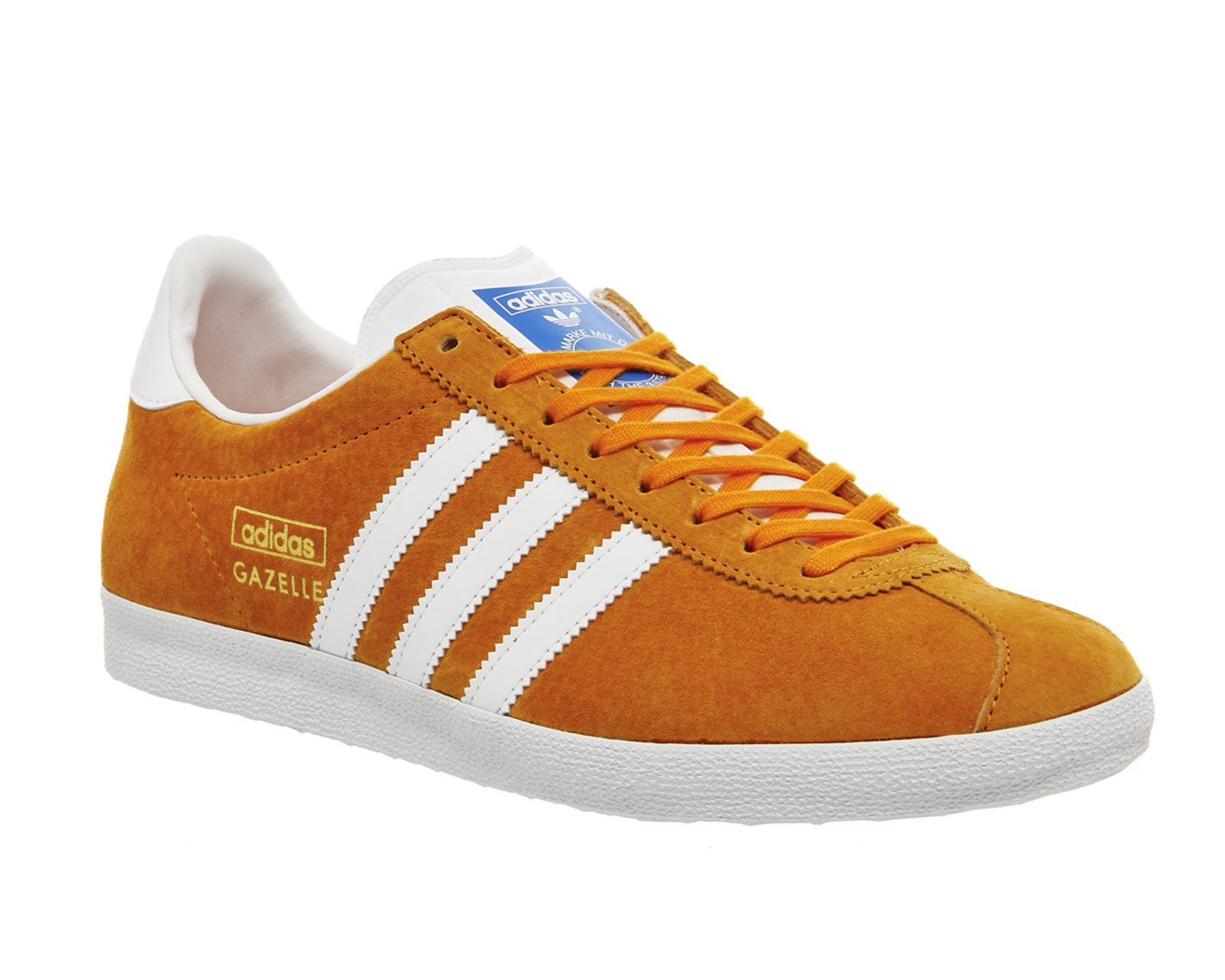 Mens-Adidas-Gazelle-Og-BRIGHT-ORANGE-WHITE-Trainers-