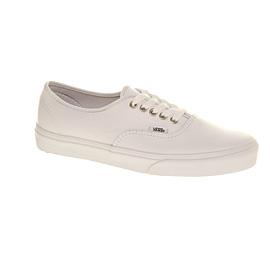 white leather authentic vans