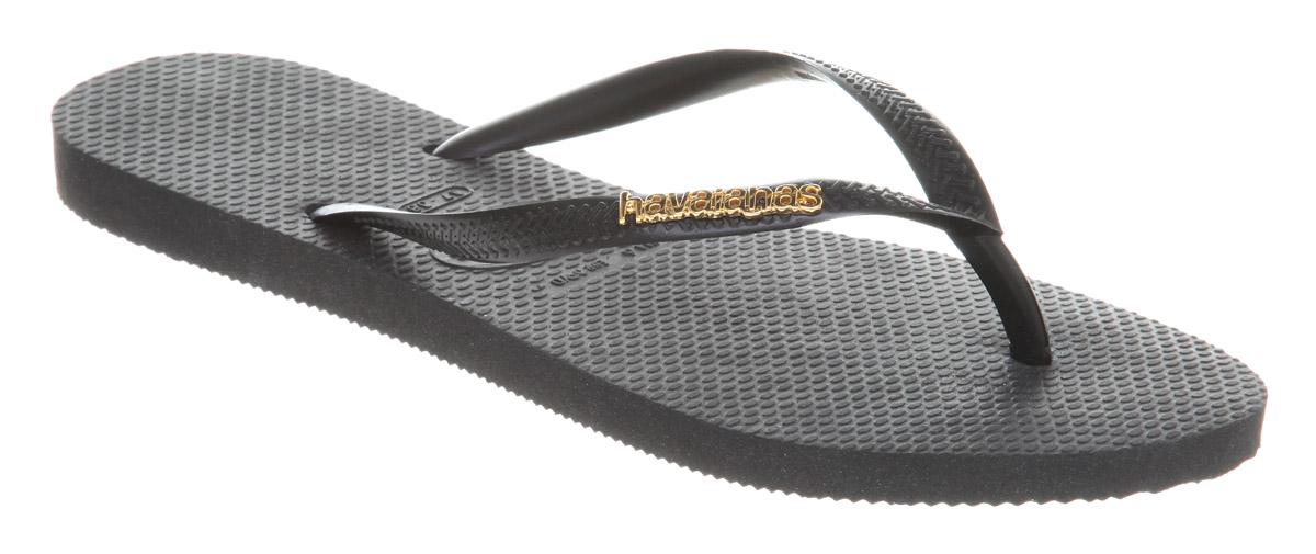 Popular Havaianas Womens Slim Logo Flip Flops Sandals  Nawomenshoes