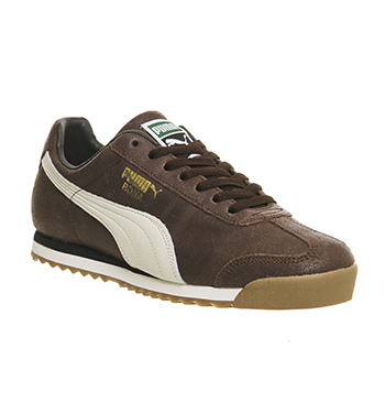 Puma-Roma-DISTRESSED-BROWN-WHISPER-WHITE-Trainers-Shoes