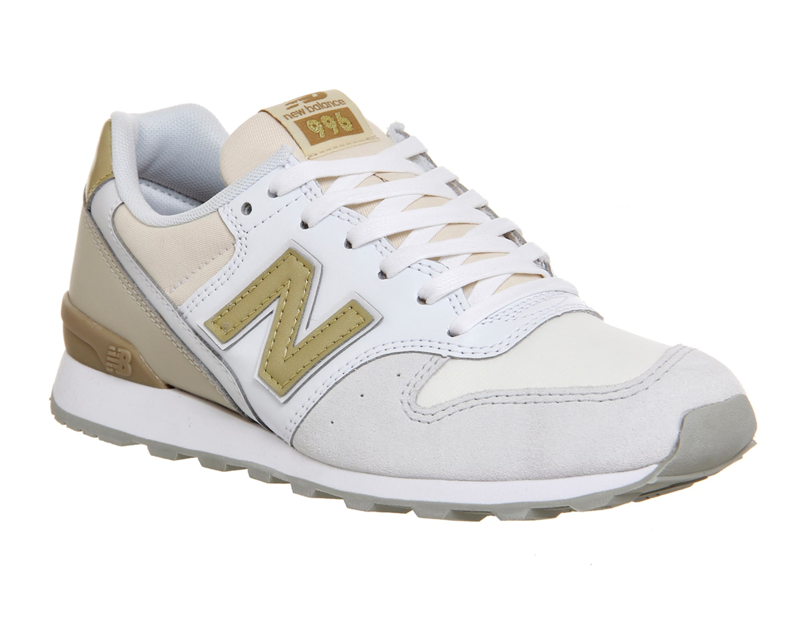 new balance 996 white gold trainers shoes ebay. Black Bedroom Furniture Sets. Home Design Ideas