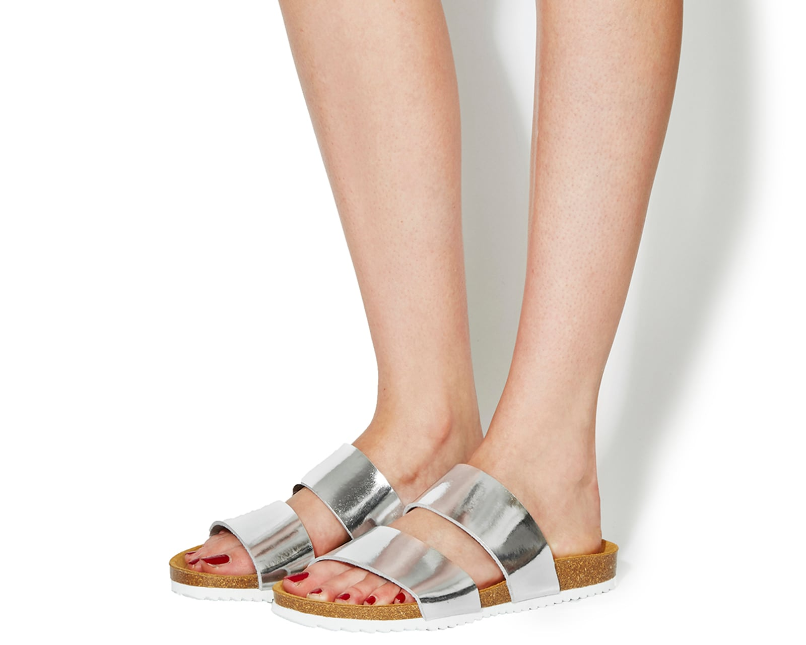 Womens Office Oslo 2 SILVER Sandals
