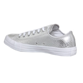 1bd2d30bfb77 Converse Converse All Star Low SILVER METALLIC SNAKE Trainers Shoes ...