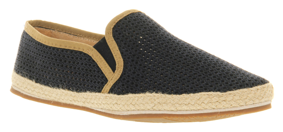 Mens-H-By-Hudson-Belafonte-Mesh-Slip-Navy-Mesh-Casual-Shoes