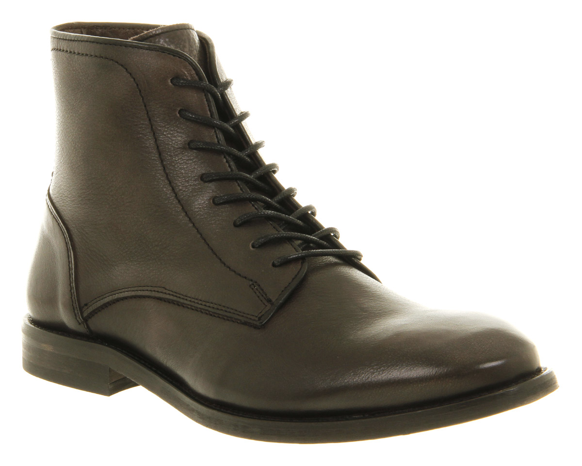 mens h by hudson smyth lace boot black leather boots