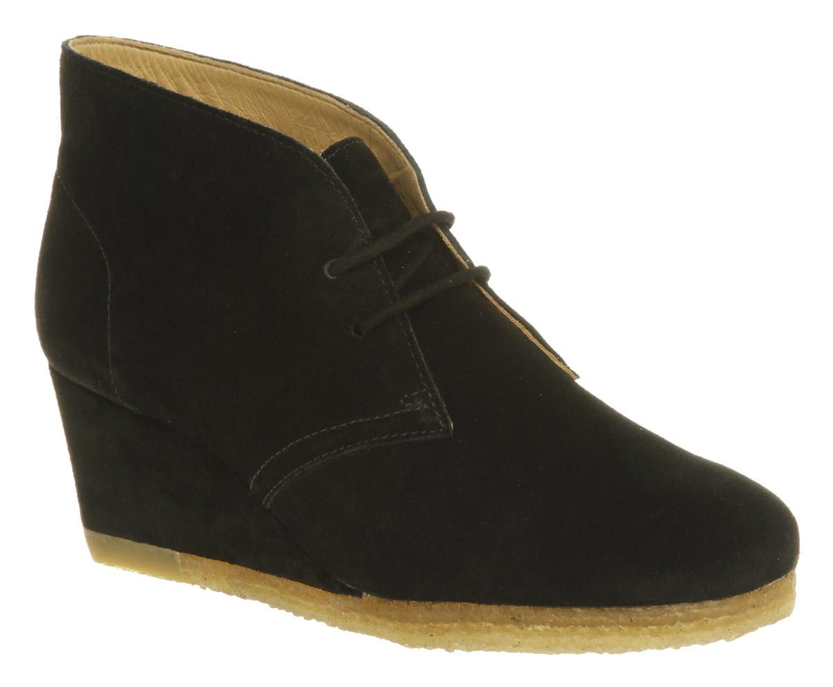 womens clarks originals yarra desert boot black suede