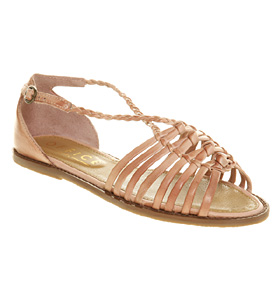 Womens-Office-Girl-Narnia-Plait-Pink-Leather-Sandals
