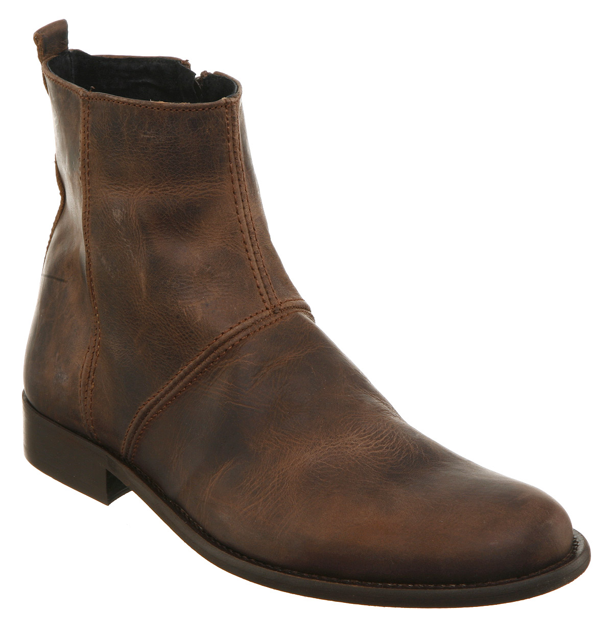 mens ask the missus atlas zip boot brown leather boots ebay