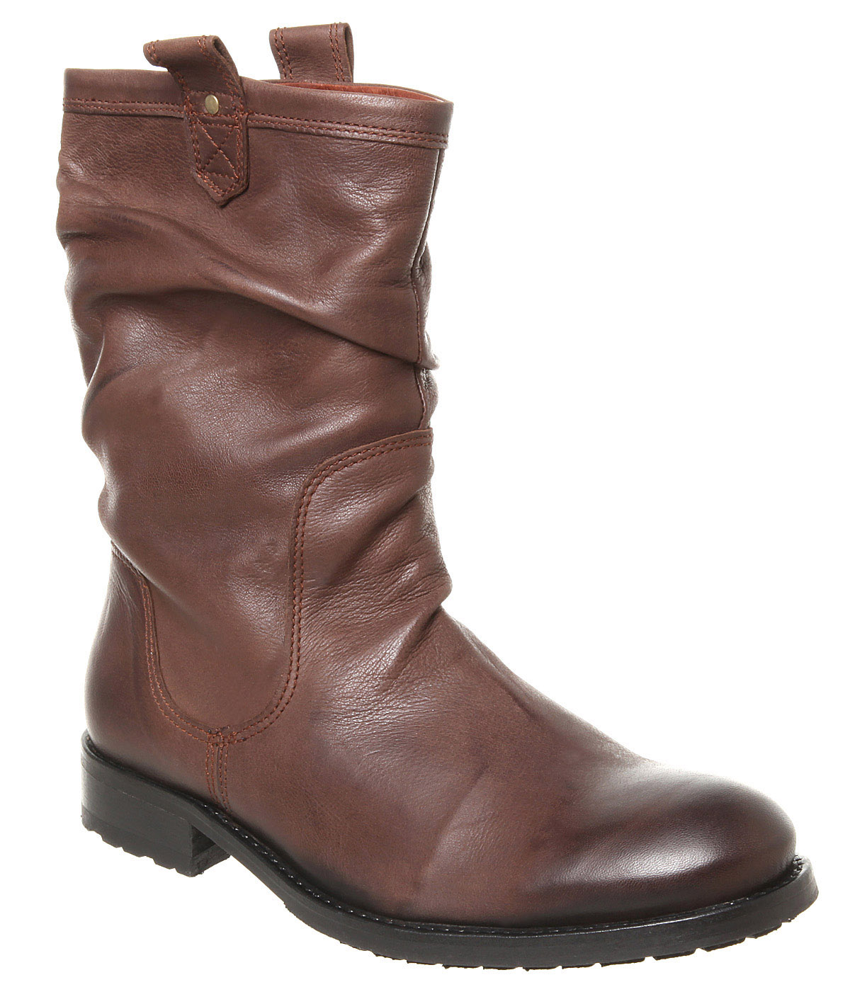 mens poste jin pull on boot choc leather boots ebay