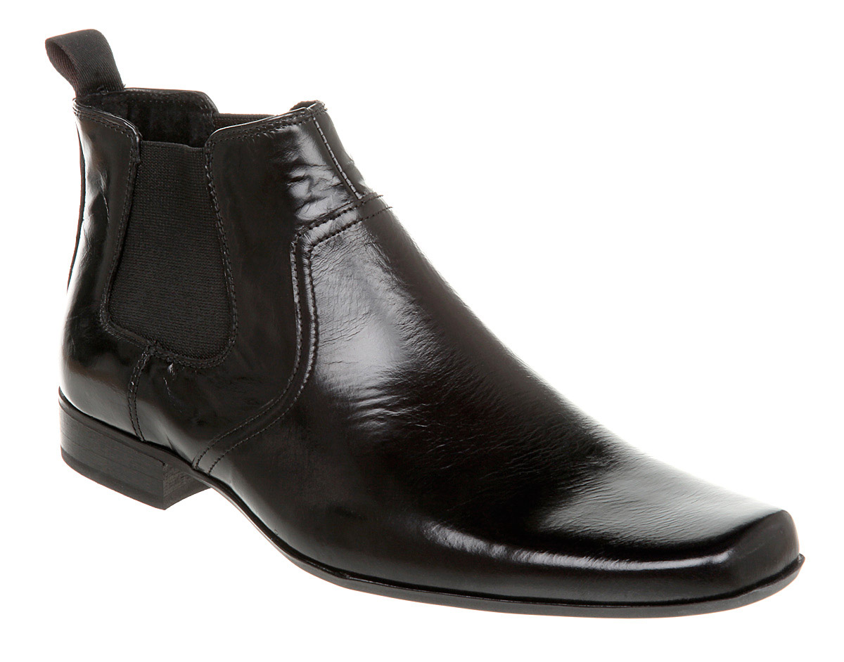 mens office skyline chelsea boot black leather boots ebay