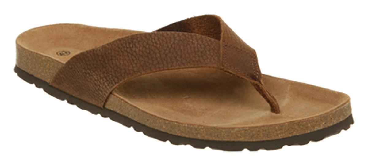d9be9e8b64af9 Image is loading Mens-Office-Thong-Sandal-Brown-Leather-Sandals