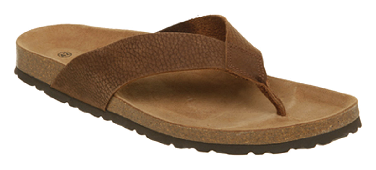 Image Is Loading Mens Office Sandal Brown Leather Sandals