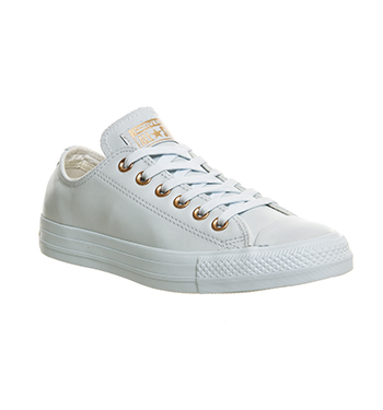 mens converse all star low leather powder blue rose gold exclusive trainers shoe ebay. Black Bedroom Furniture Sets. Home Design Ideas