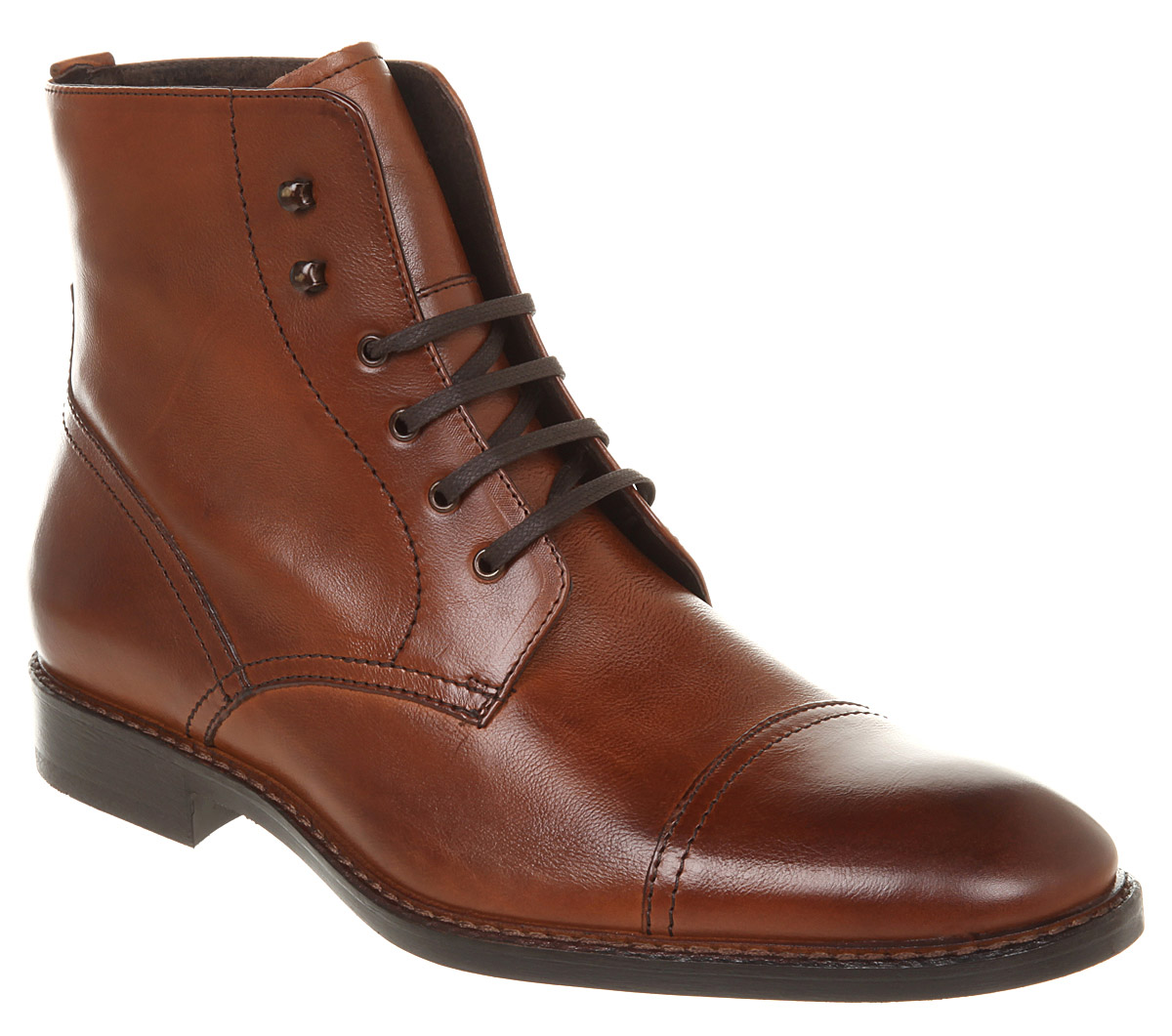 mens office toe cap boot leather boots ebay