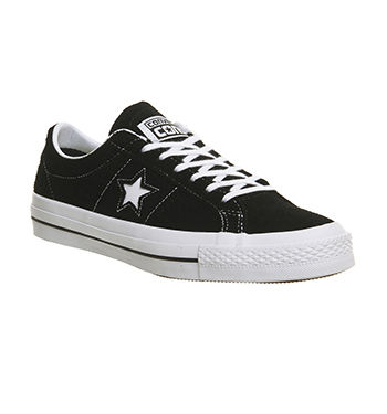 converse one star suede black