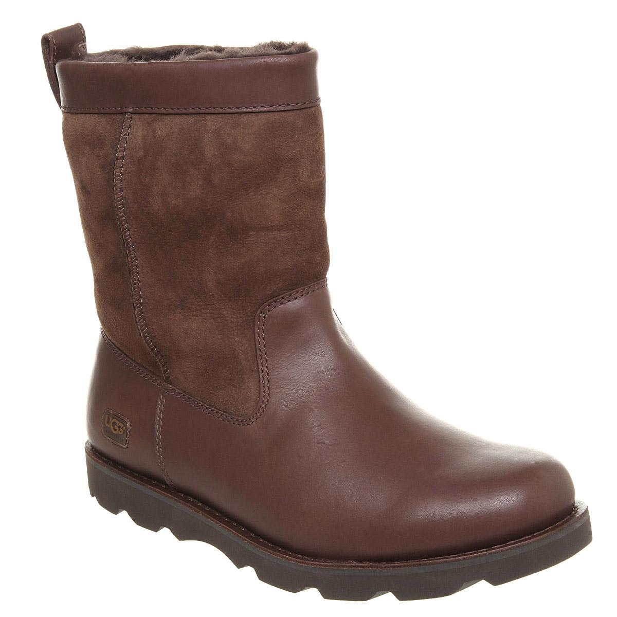 Mens Ugg Australia Wrangell Boot Choc Leather Boots