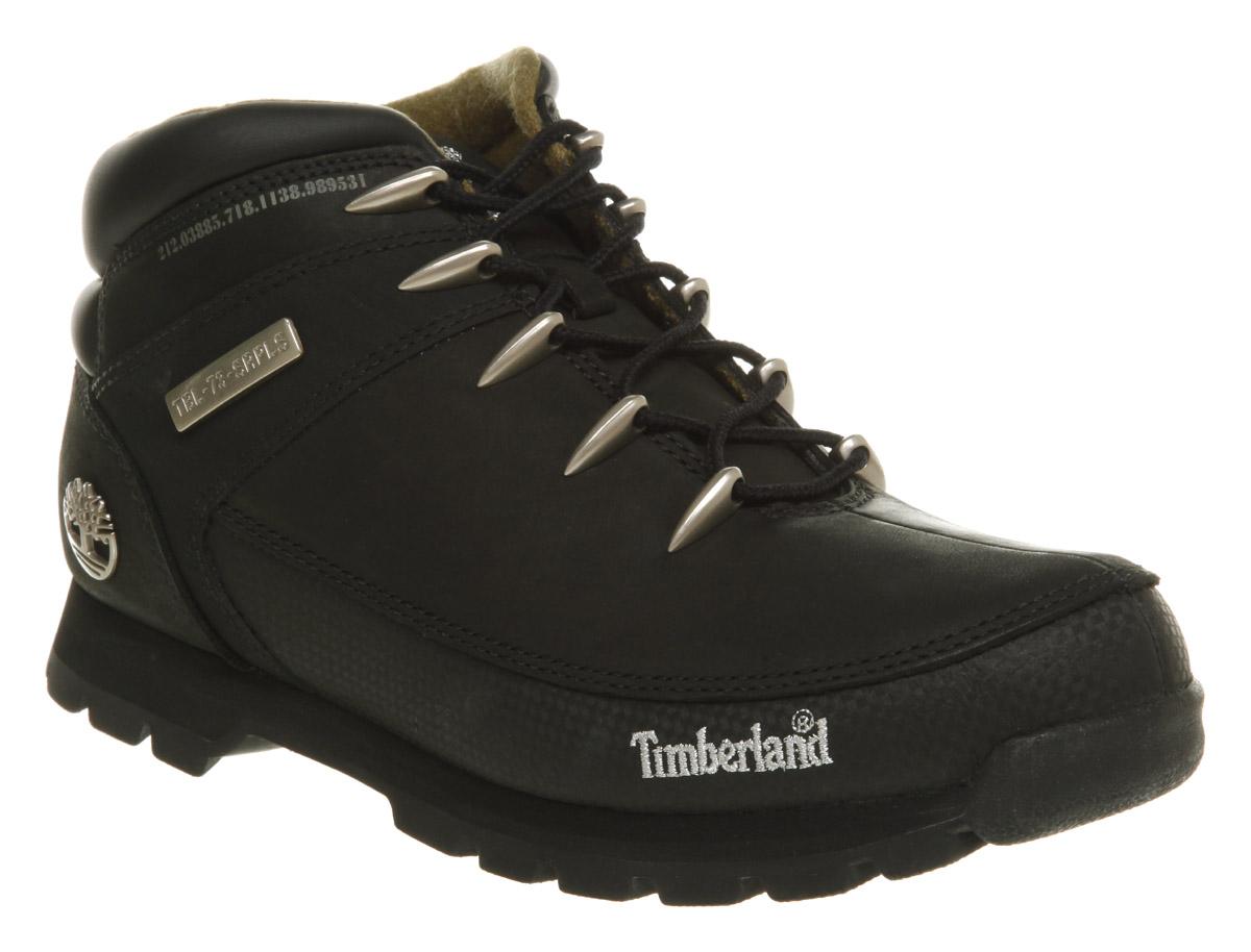 mens timberland eurosprint black nubuck boots ebay