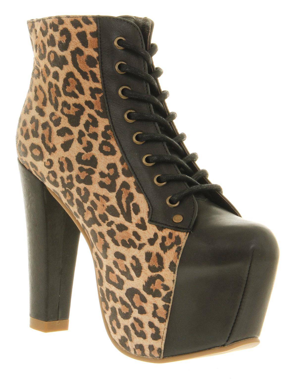 womens jeffrey campbell lita platform ankle boot ante print tan boots ebay. Black Bedroom Furniture Sets. Home Design Ideas
