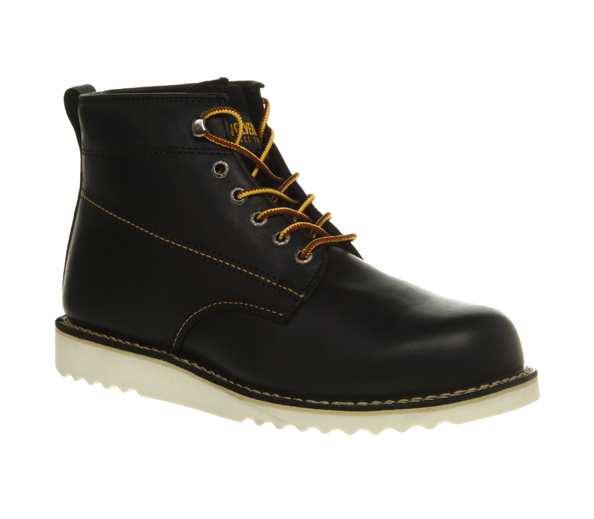 Mens Wolverine Rory Round Toe Boot Black Leather Boots Ebay