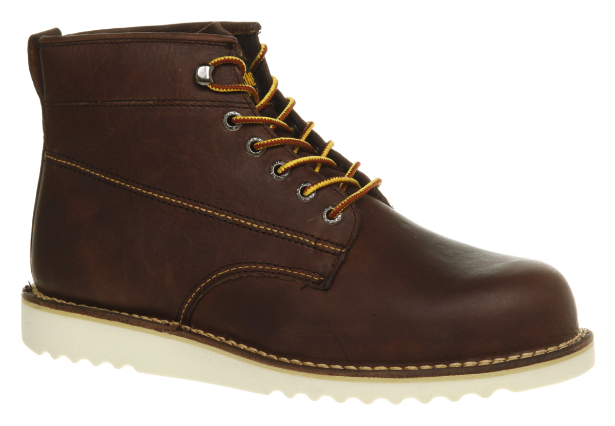 Mens-Wolverine-Rory-Round-Toe-Boot-Brown-Leather-Boots