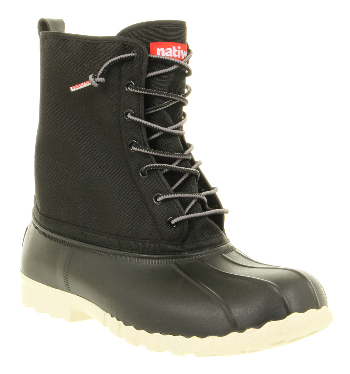 Mens-Native-Jimmy-Duck-Boot-Jiffy-Black-Boots