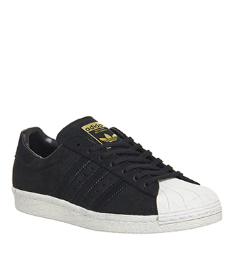 xyhmb Mens Adidas Superstar 80s CORE BLACK OFF WHITE EXCLUSIVE Trainers