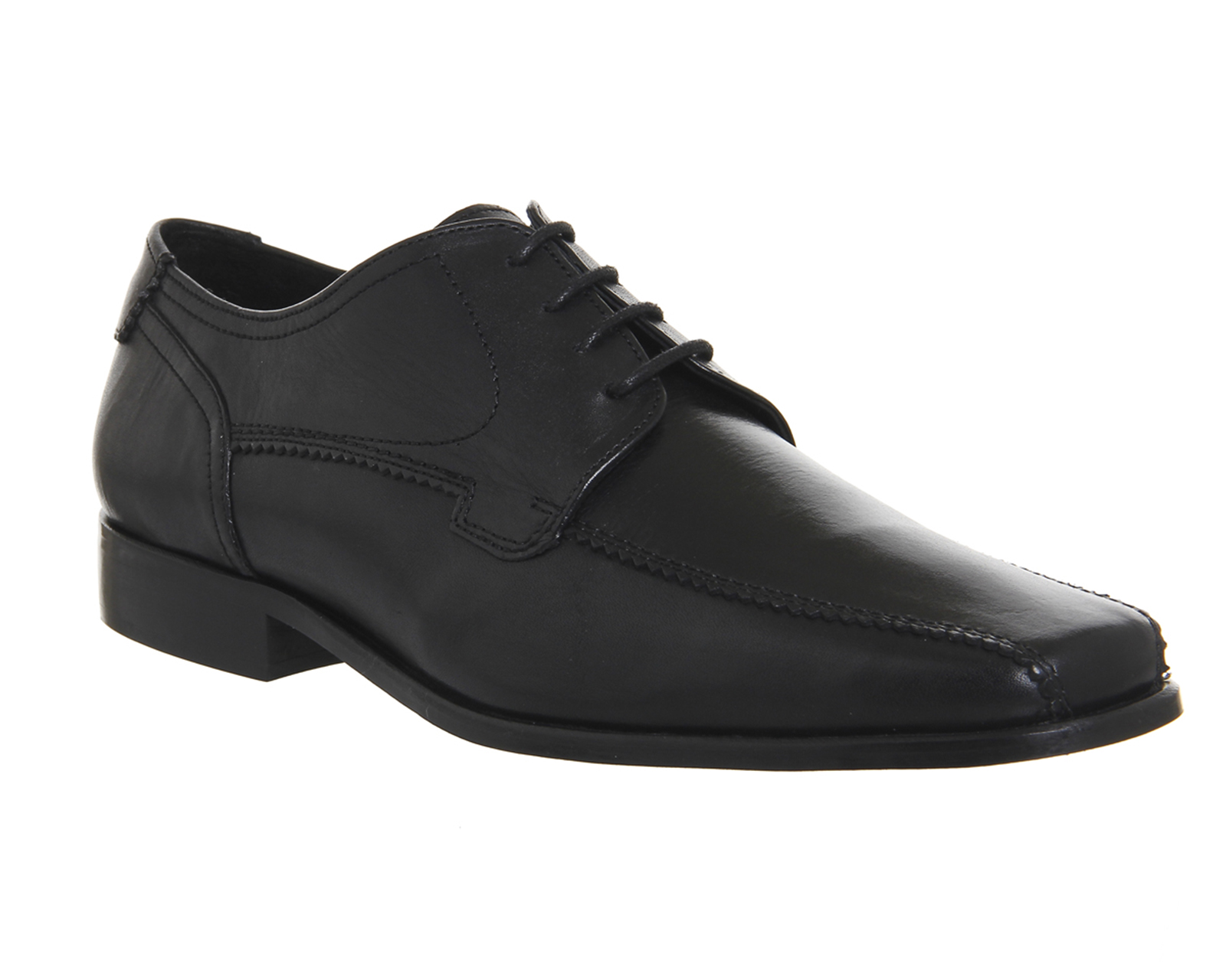 mens office dean tramline lace up black leather formal